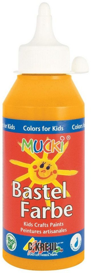 Kreul 250 ml Mucki Bastelfarbe Malfarbe Farbe Kinder in Orange