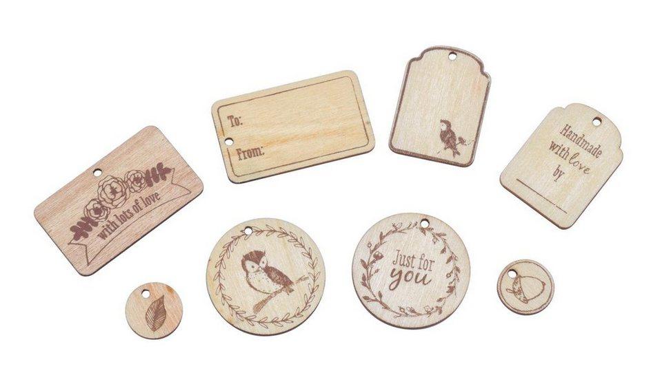 "Holz-Anhänger ""Tales from Willson Wood"", 8 Stück"
