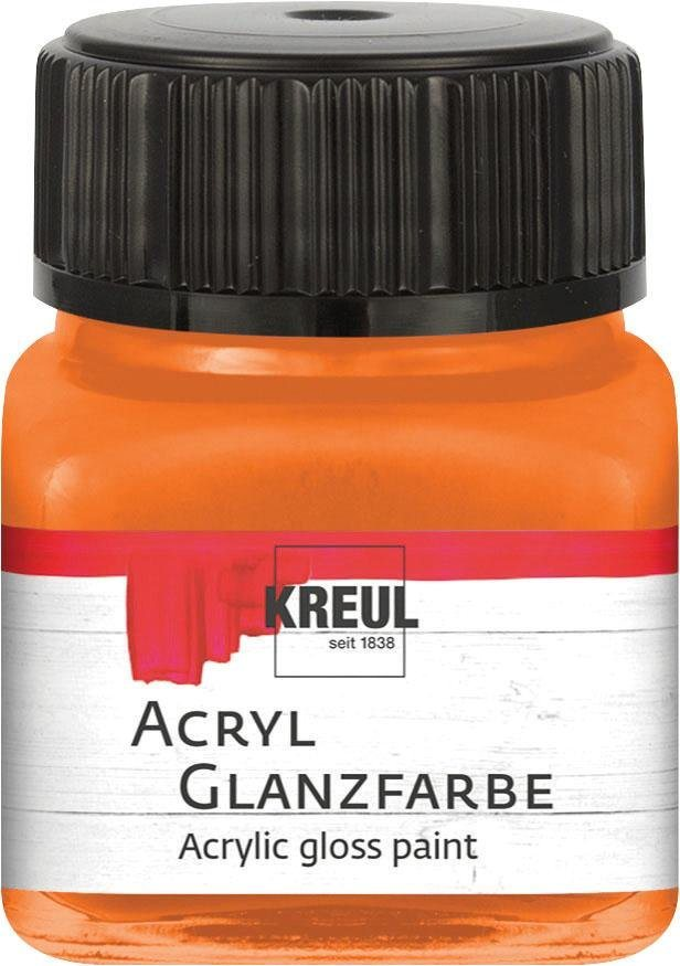 Kreul Acryl Glanzfarbe, 20 ml in Orange