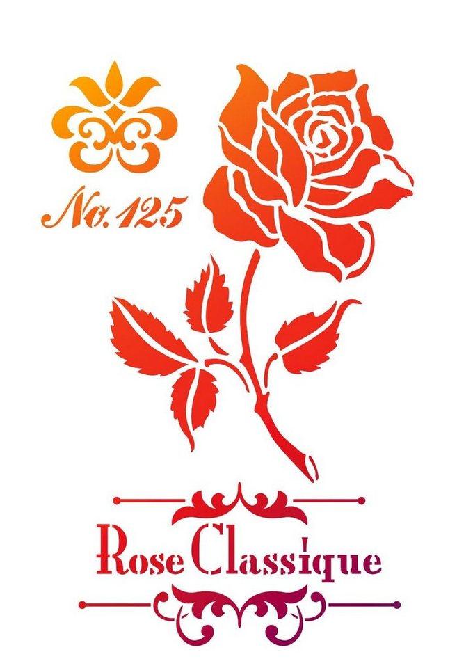 """Viva Decor Schablone """"Rose Classic"""" DIN A4 Malschablone"""