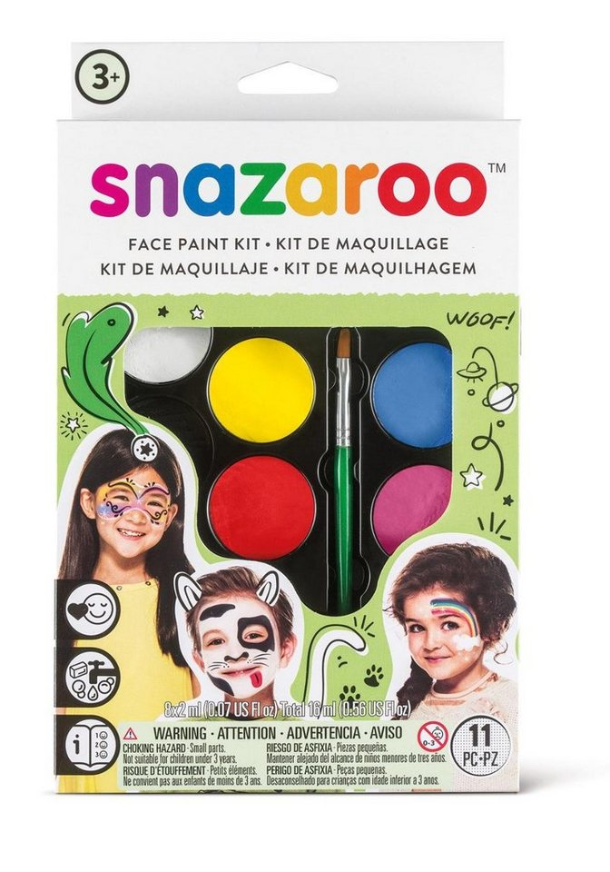 snazaroo Basic-Schminkset, 8 Farben