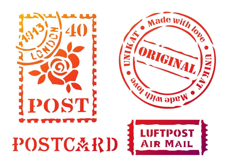 "Viva Decor Schablone ""Postcard"" DIN A4 Malschablone"