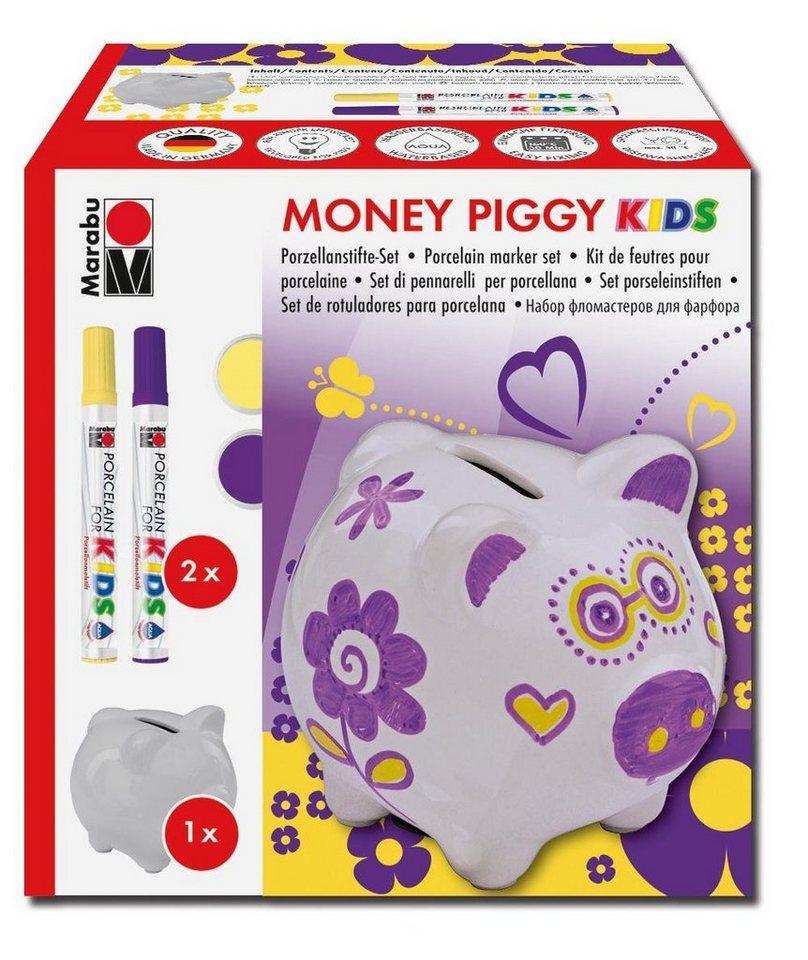 Marabu Spardosen Set Money Piggy Kids Porzellanmaler