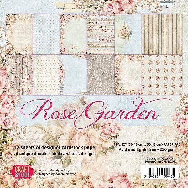 Block Scrapbooking Papierblock Rose Garden