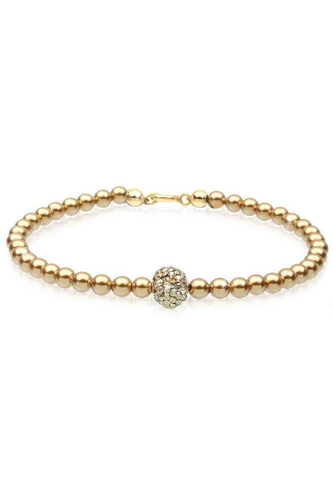 Elli Armband »Swarovski Kristalle 925 Silber vergoldet« in Gold