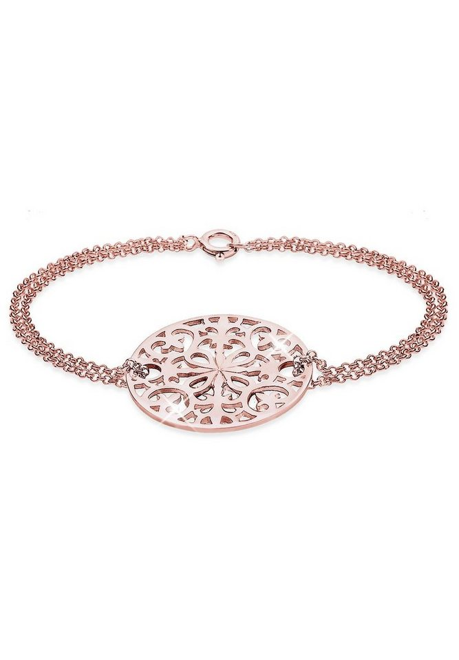Elli Armband »925 Sterling Silber Ornament« in Rosegold