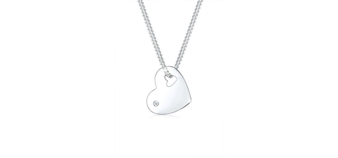 Diamore Halskette »925 Sterling Silber Herz Diamant«