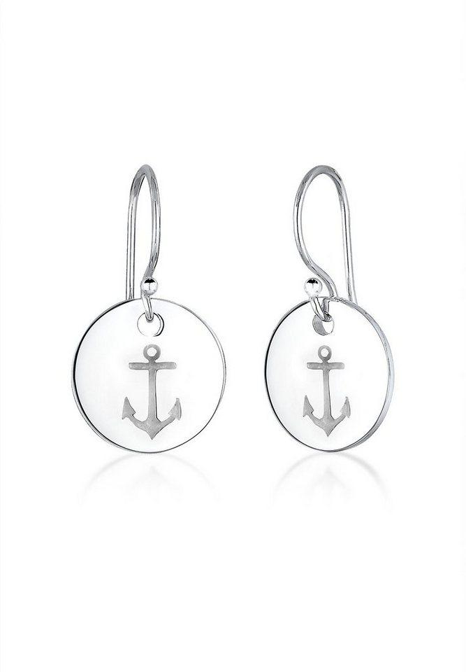 Elli Ohrringe »Anker Maritim 925 Sterling Silber« in Silber