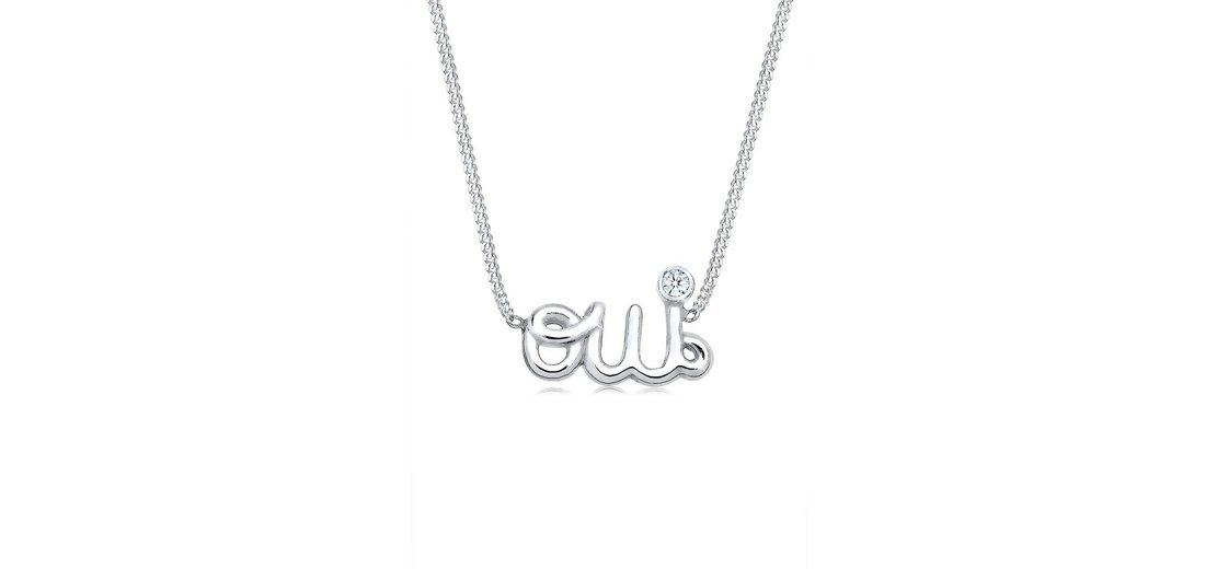 Elli Halskette »Statement-Schriftzug Oui Diamant 925 Silber«