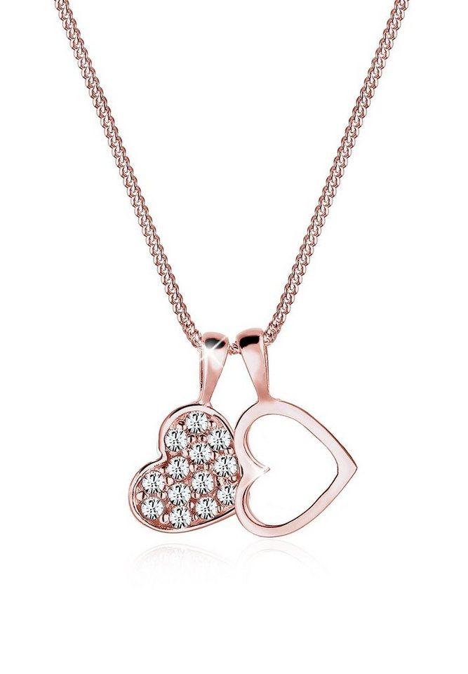 Elli Halskette »Glitzern Swarovski Kristalle® 925 Sterling Silber« in Rosegold
