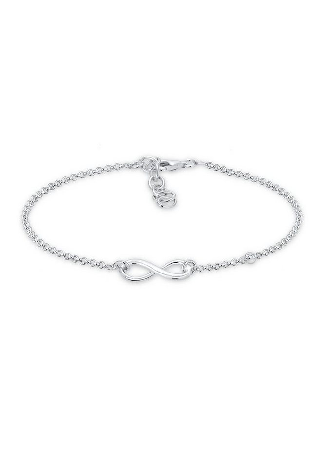 Elli Armband »Infinity Diamant 925 Sterling Silber« in Silber