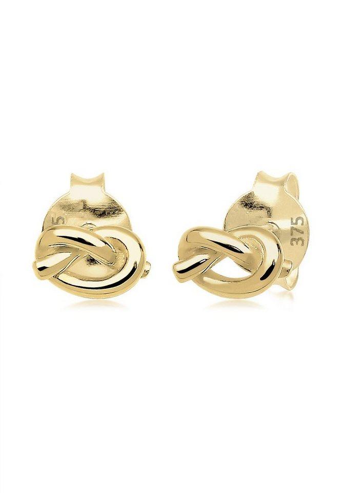 Elli Ohrringe »Knoten Filigran Basic Hochwertig 375 Gelbgold« in Gold