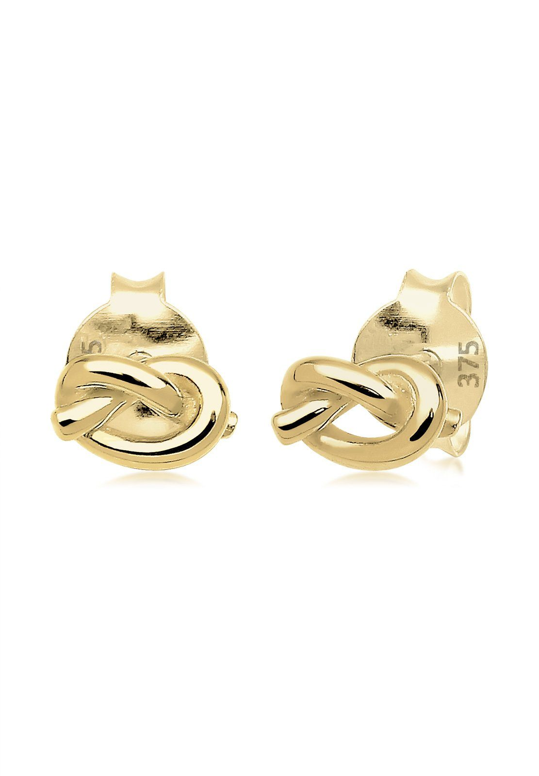 Elli Ohrringe »Knoten Filigran Basic Hochwertig 375 Gelbgold«