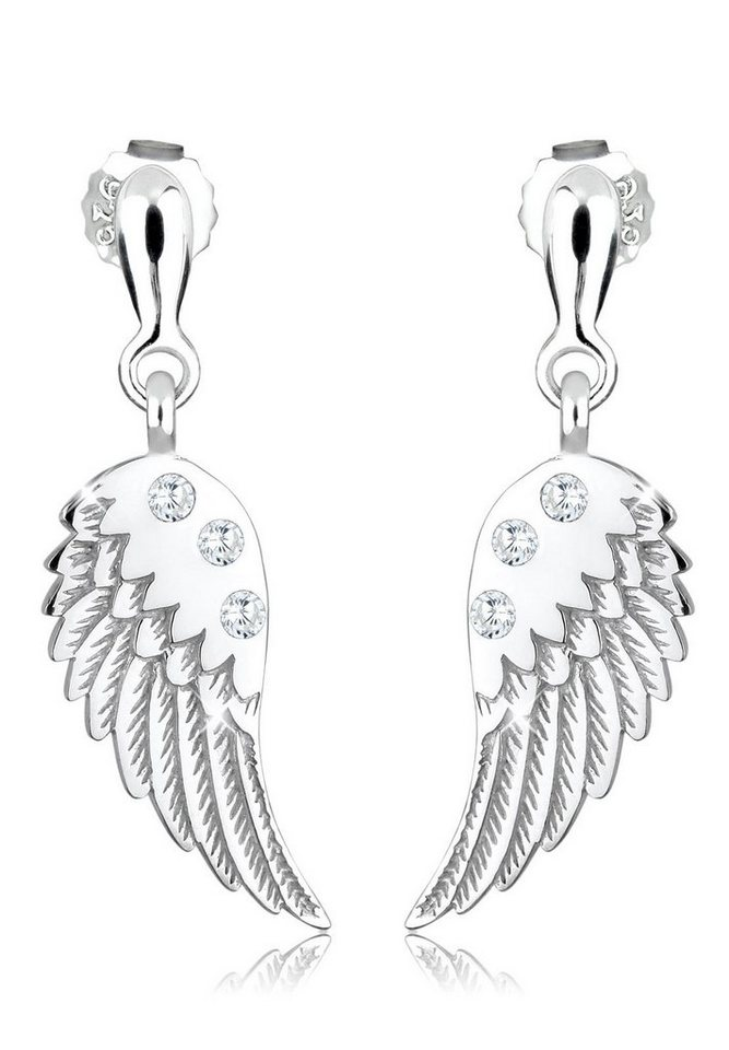 Elli Ohrringe »Flügel Zirkonia 925 Sterling Silber« in Weiß