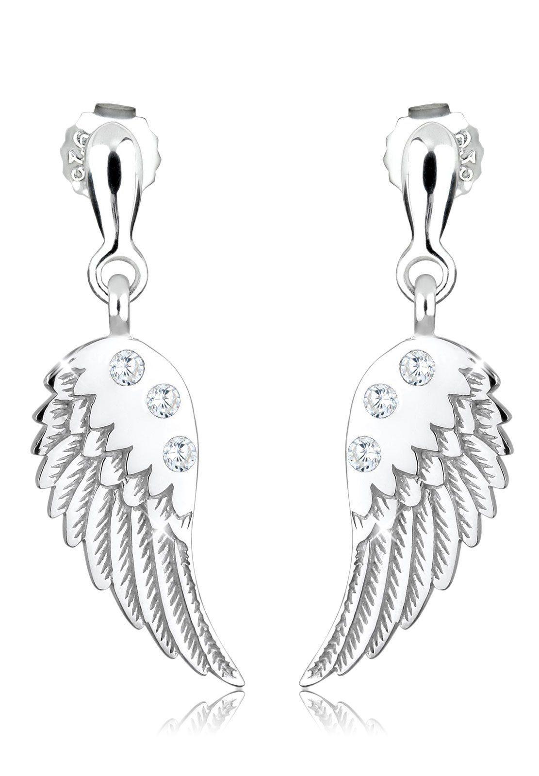 Elli Ohrringe »Flügel Zirkonia 925 Sterling Silber«