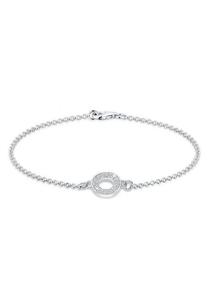 Elli Armband »Kreis Diamant 925 Sterling Silber« in Weiß