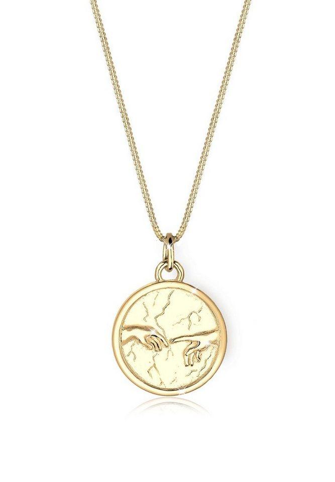 Elli Halskette »925 Sterling Silber Hände Talisman vergoldet« in Gold