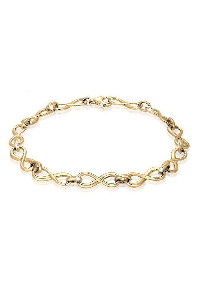 Elli Armband »Infinity Unendlichkeit 925 Sterling Silber« in Gold