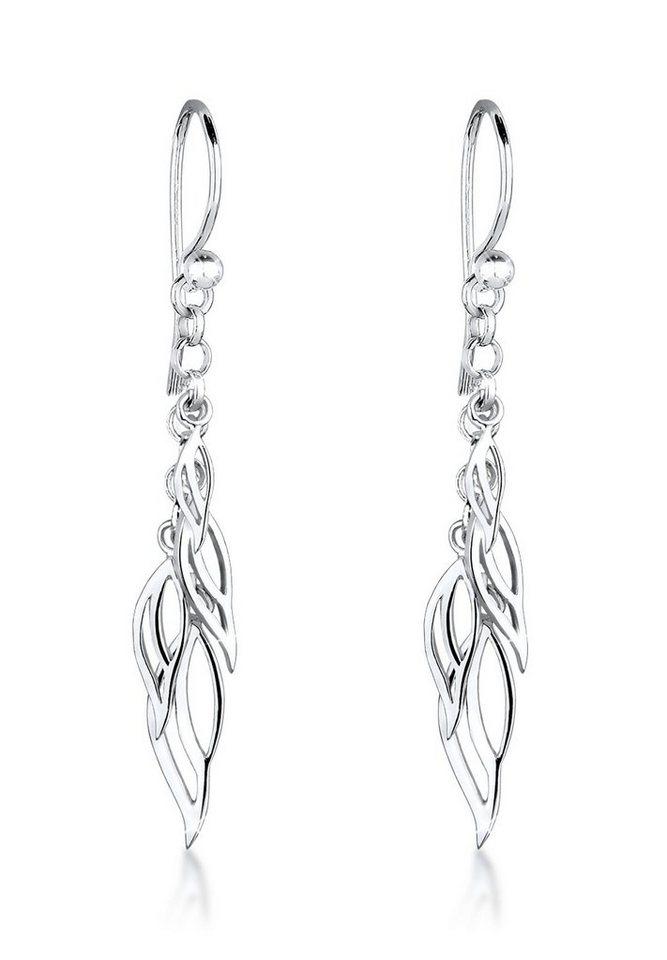 Elli Ohrringe »Blätter Elegant Trend Filigran 925 Silber« in Silber