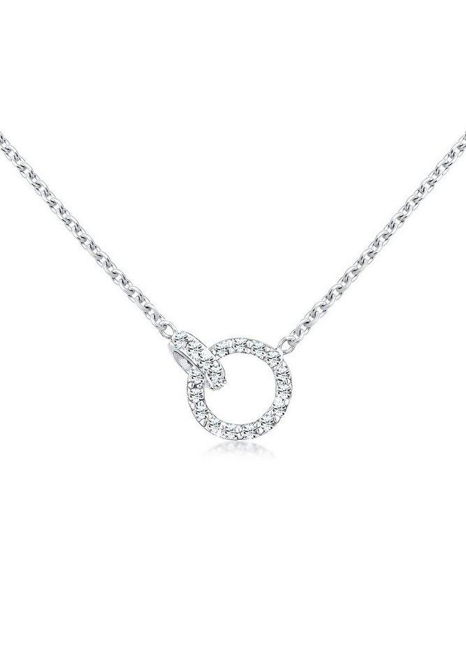 Elli Halskette »Verbunden Swarovski® Kristalle 925 Sterling Silber« in Weiß