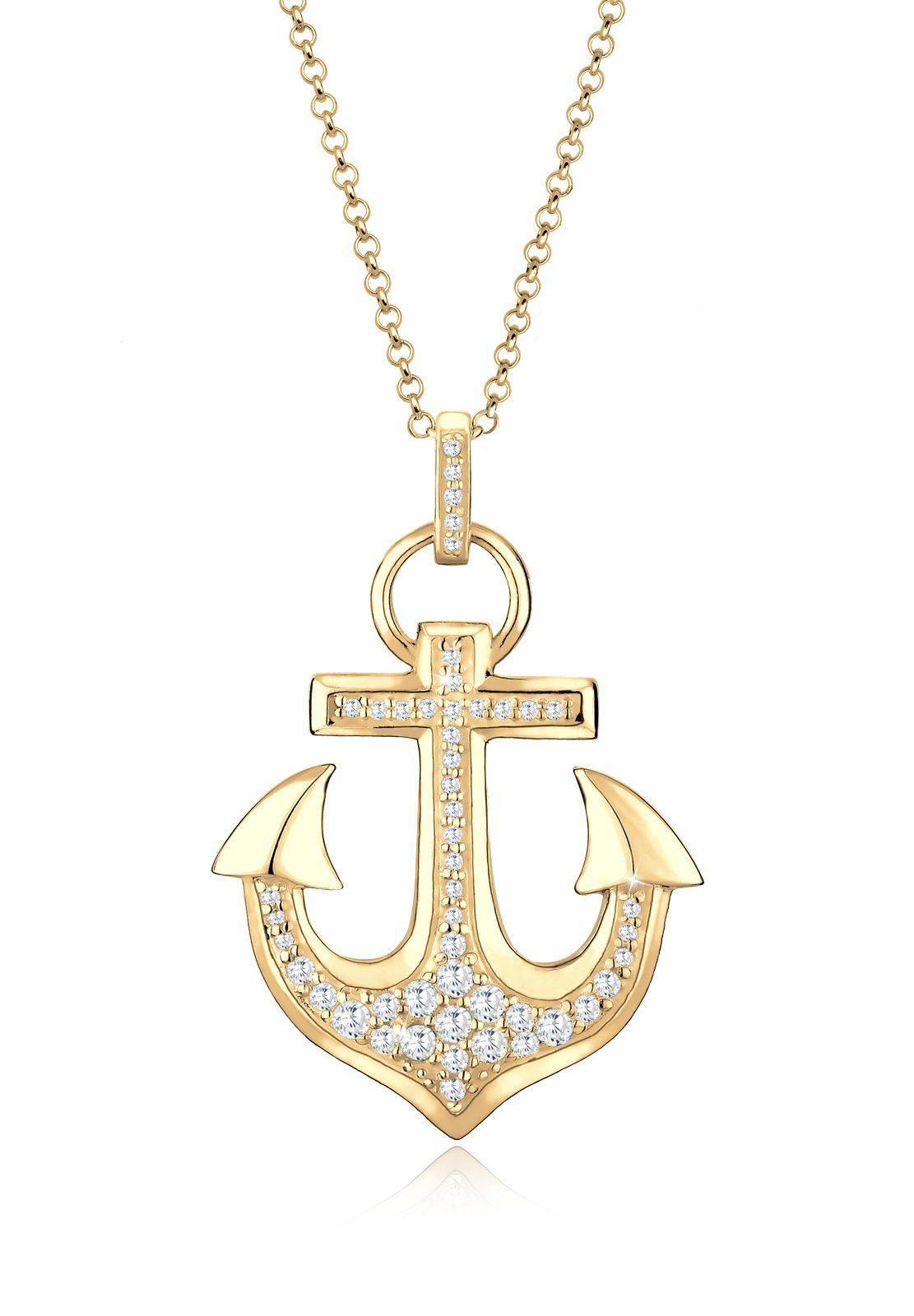 Goldhimmel Halskette »Anker Zirkonia 925 Sterling Silber«