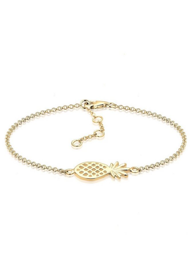 Elli Armband »Ananas 925 Sterling Silber« in Gold