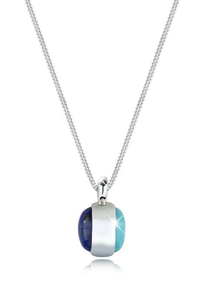 Elli Halskette »Amazonit Lapis Lazuli 925 Sterling Silber« in Blau
