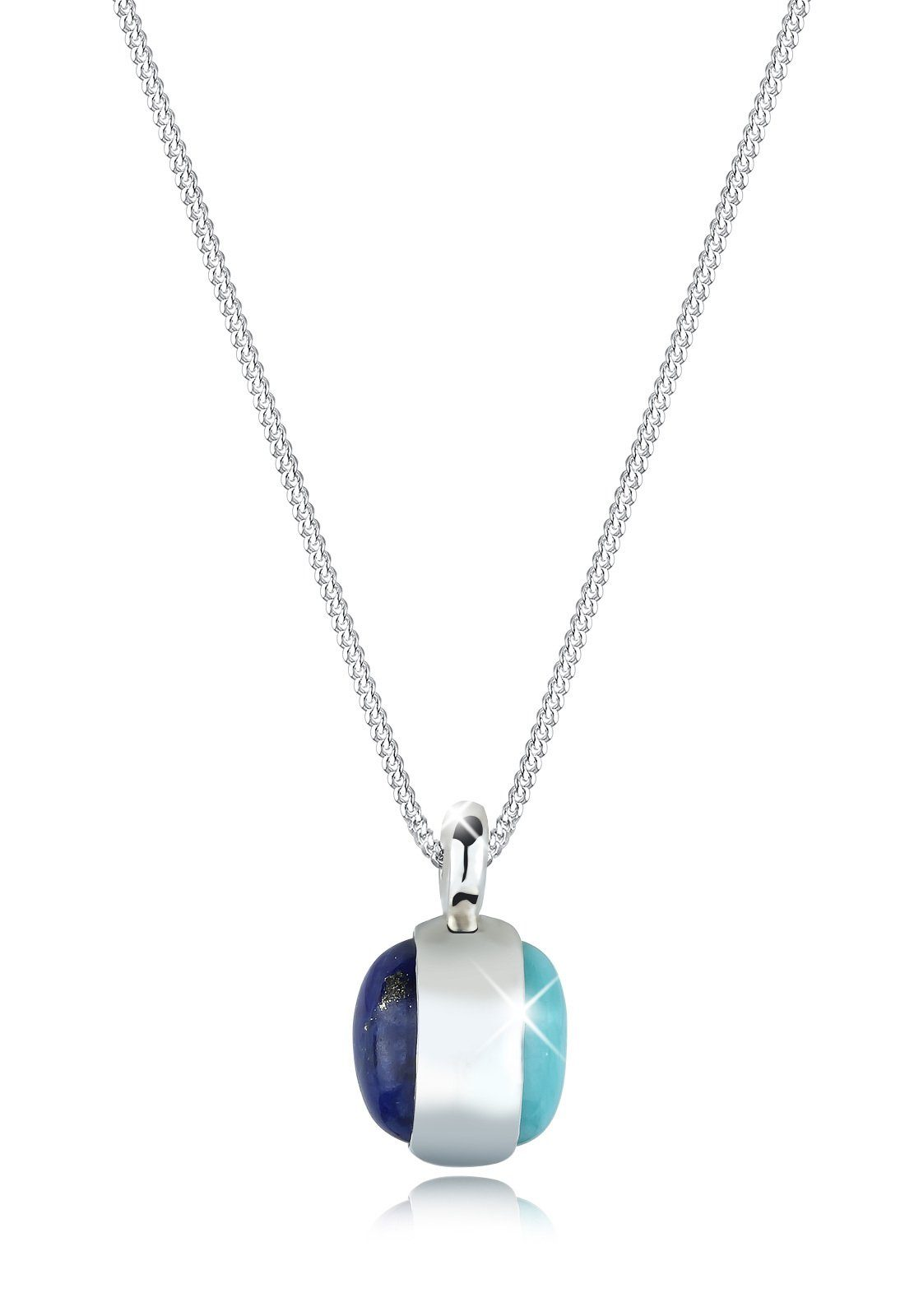 Elli Halskette »Amazonit Lapis Lazuli 925 Sterling Silber«