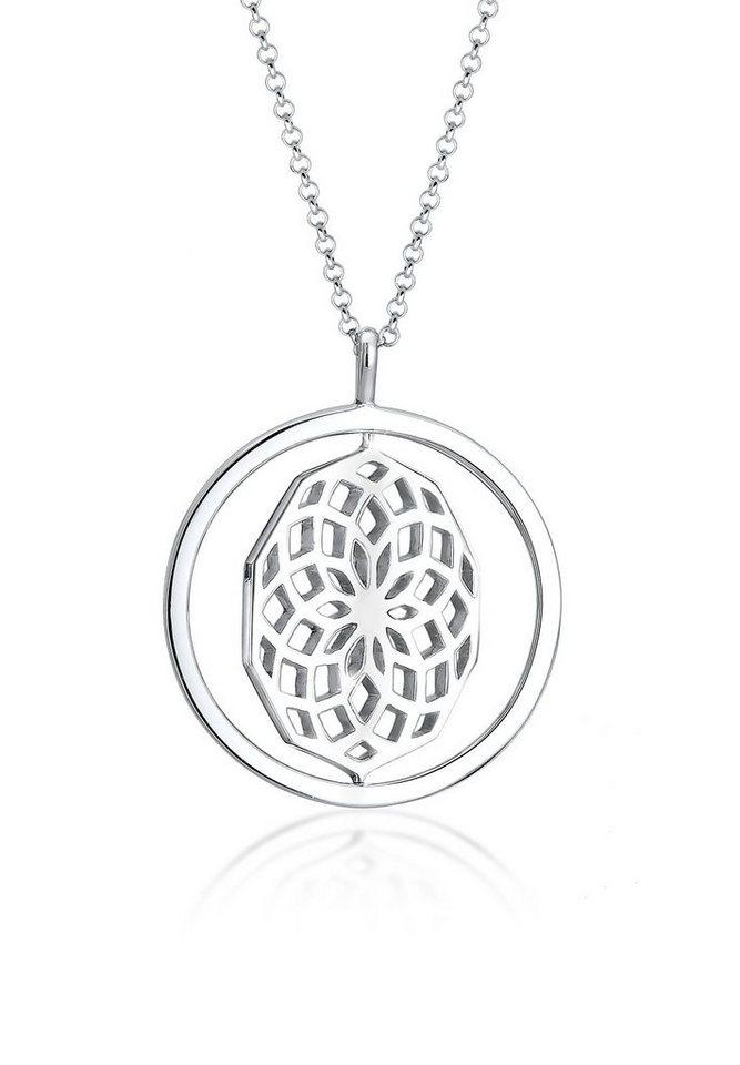 Elli Halskette »Drehscheibe Ornament 925 Sterling Silber« in Silber