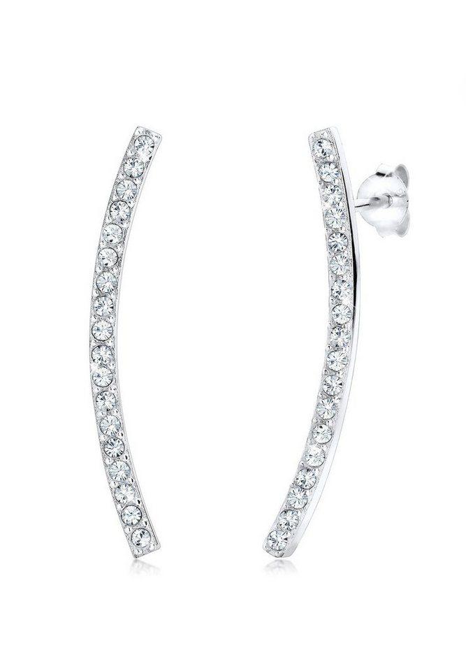 Elli Ohrringe »Swarovski Kristalle 925 Sterling Silber« in Weiß