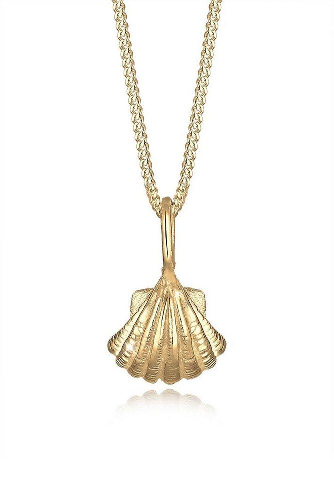 Elli Halskette »Muschel Maritim 925 Sterling Silber« in Gold