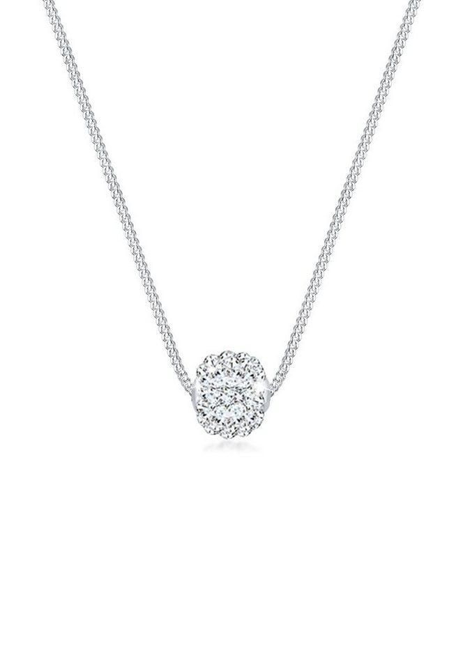 Elli Halskette »Kugel Swarovski® Kristalle 925 Sterling Silber« in Weiß