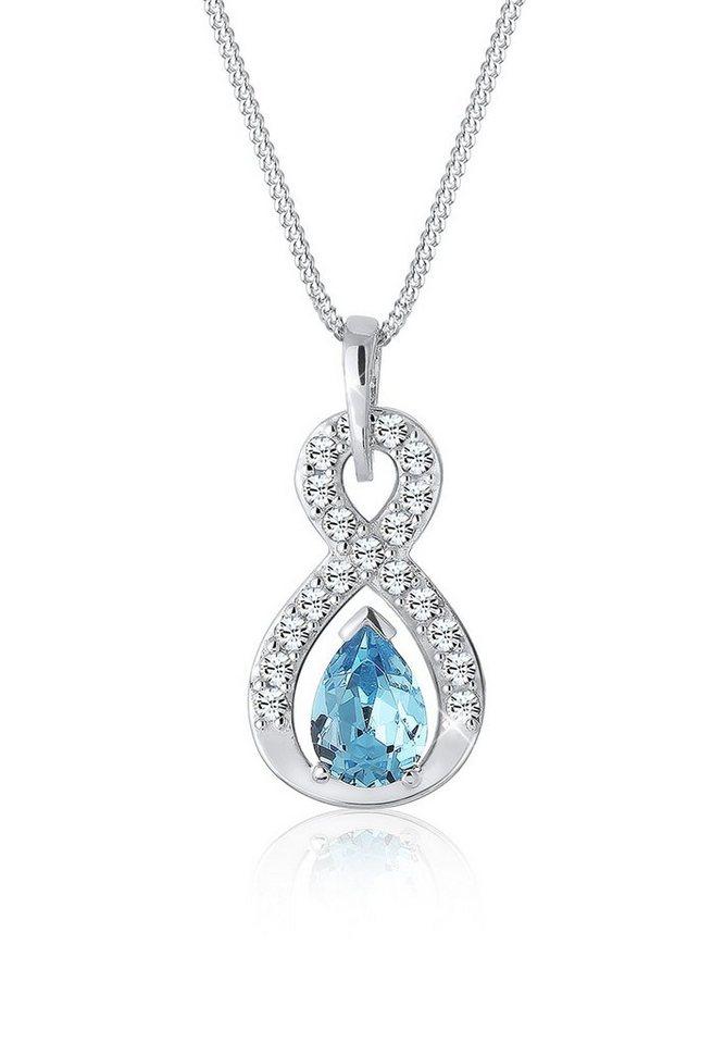 Elli Halskette »Infinity Swarovski® Kristalle 925 Sterling Silber« in Hellblau