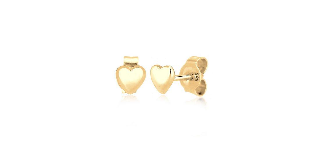 Elli Ohrringe »585 Gelbgold Herz«