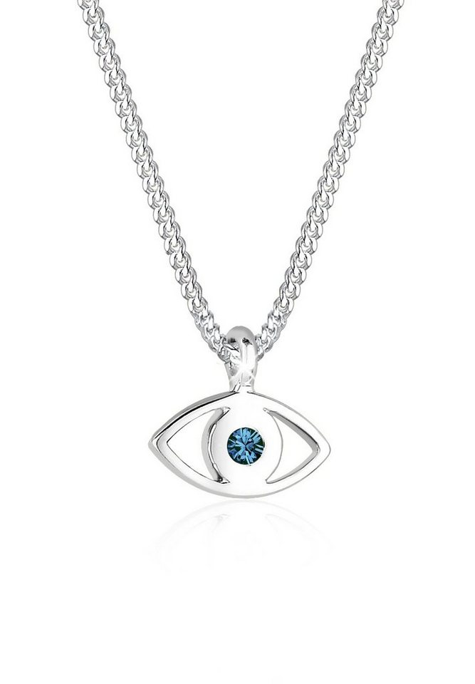 Elli Halskette »Evil Eye Swarovski® Kristalle 925 Sterling Silber« in Blau