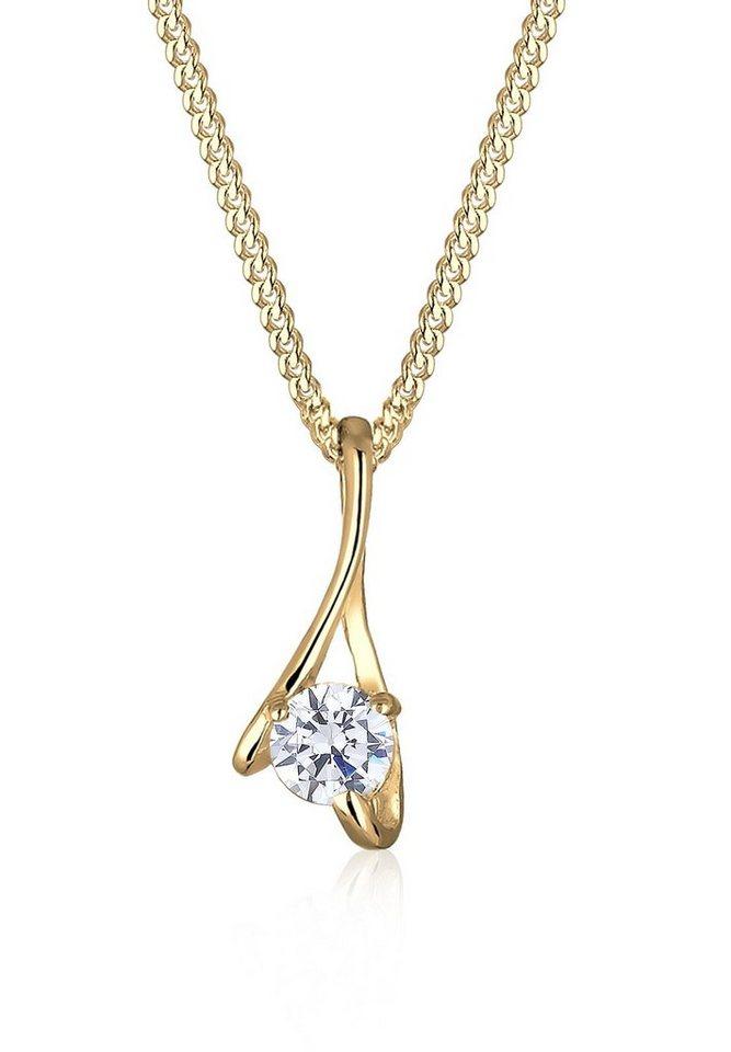 Elli Halskette »Zirkonia 585 Gelbgold« in Gold