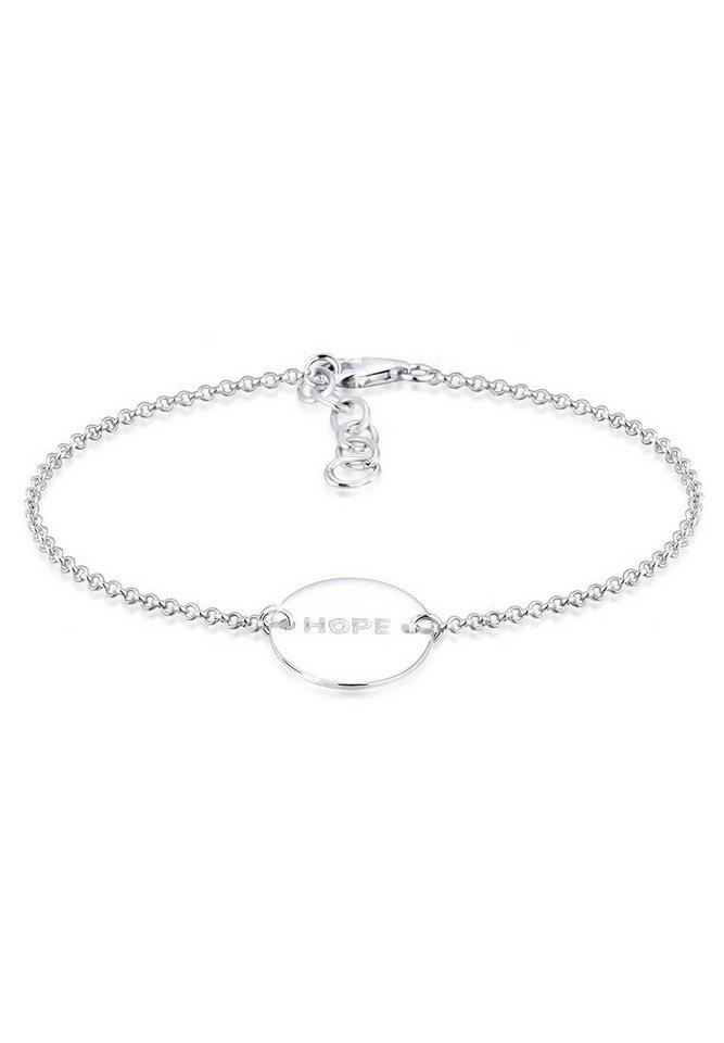 Elli Armband »Hope-Schriftzug 925 Sterling Silber« in Silber