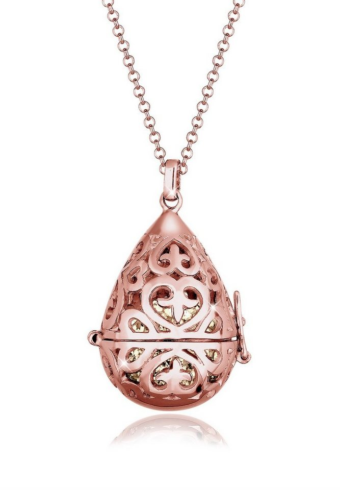 Elli Halskette »Symbolische Kugel Swarovski® Kristalle 925 Silber« in Braun
