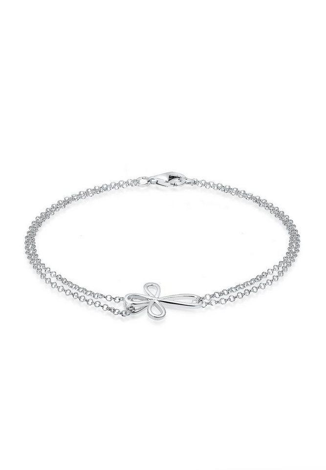 Elli Armband »Kreuz Religion Glaube 925 Sterling Silber« in Silber