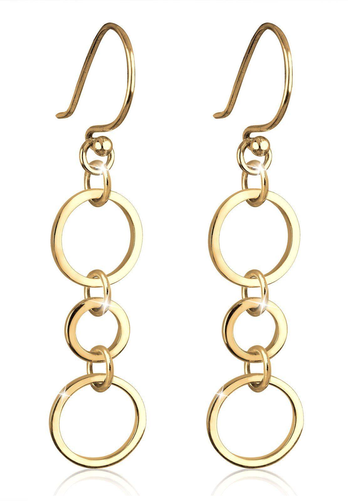 Goldhimmel Ohrringe »Ringe Kreise Geo Elegant Filigran Silber vergoldet«
