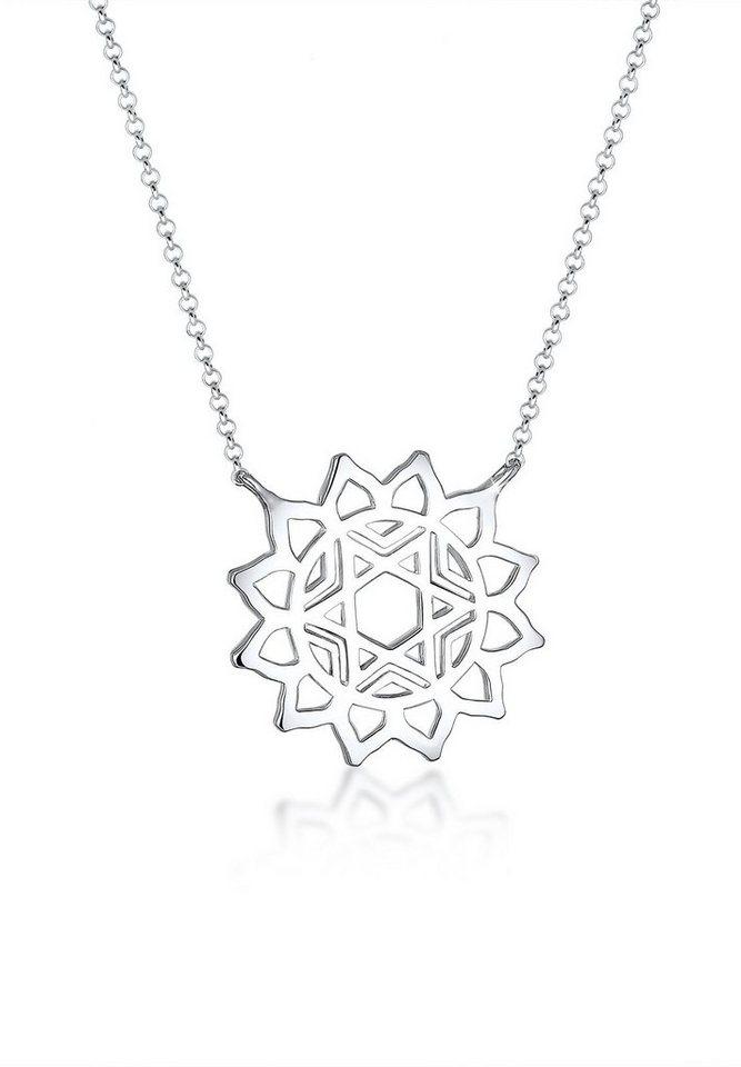 Elli Halskette »Chakra Stern 925 Sterling Silber« in Silber