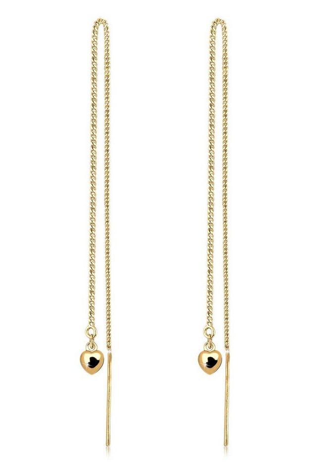 Goldhimmel Ohrringe »Herz Kette Feminin Elegant Geschenk vergoldet« in Gold