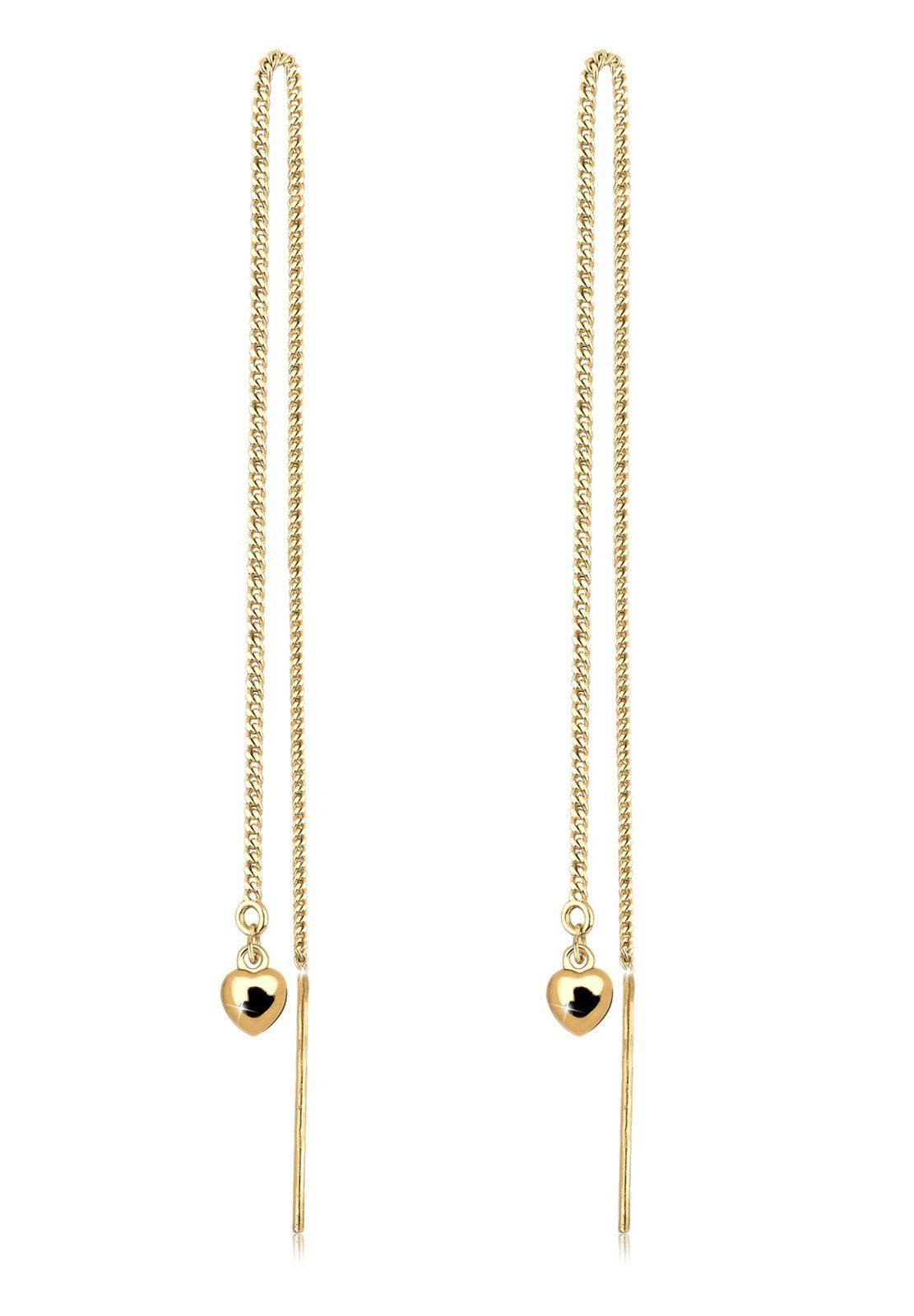 Goldhimmel Ohrringe »Herz Kette Feminin Elegant Geschenk vergoldet«