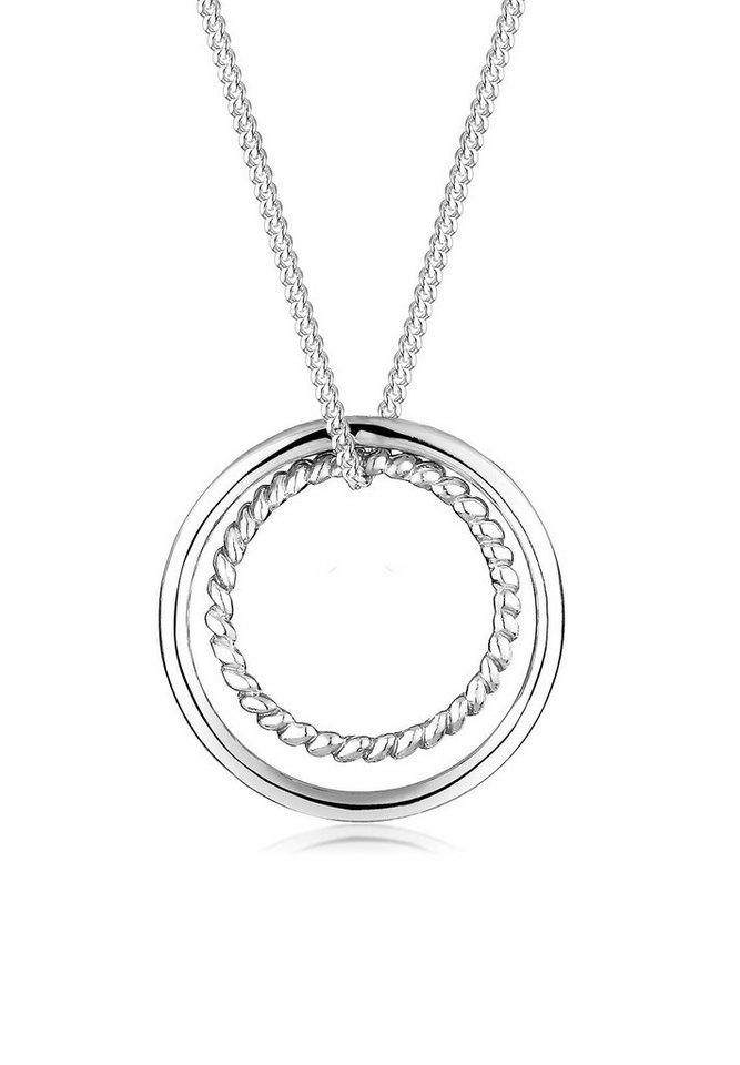 Elli Halskette »Kreis Ring Geo 925 Sterling Silber« in Silber