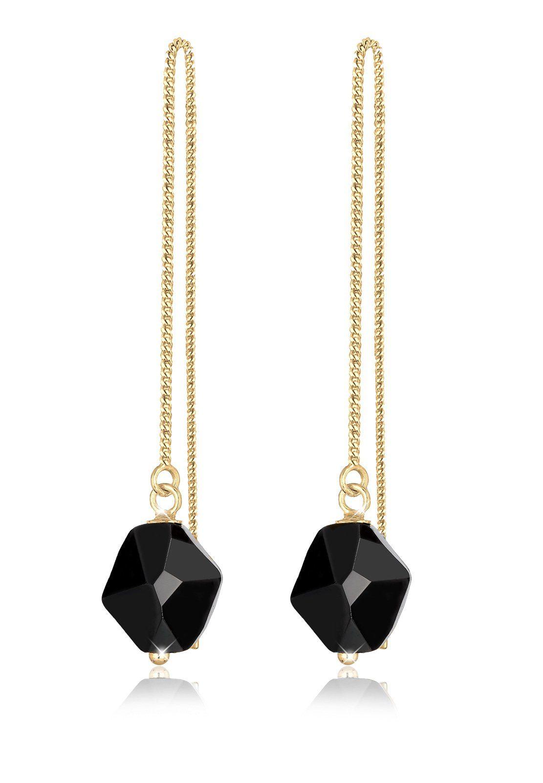 Elli Ohrringe »Swarovski Kristalle 925 Sterling Silber vergoldet«