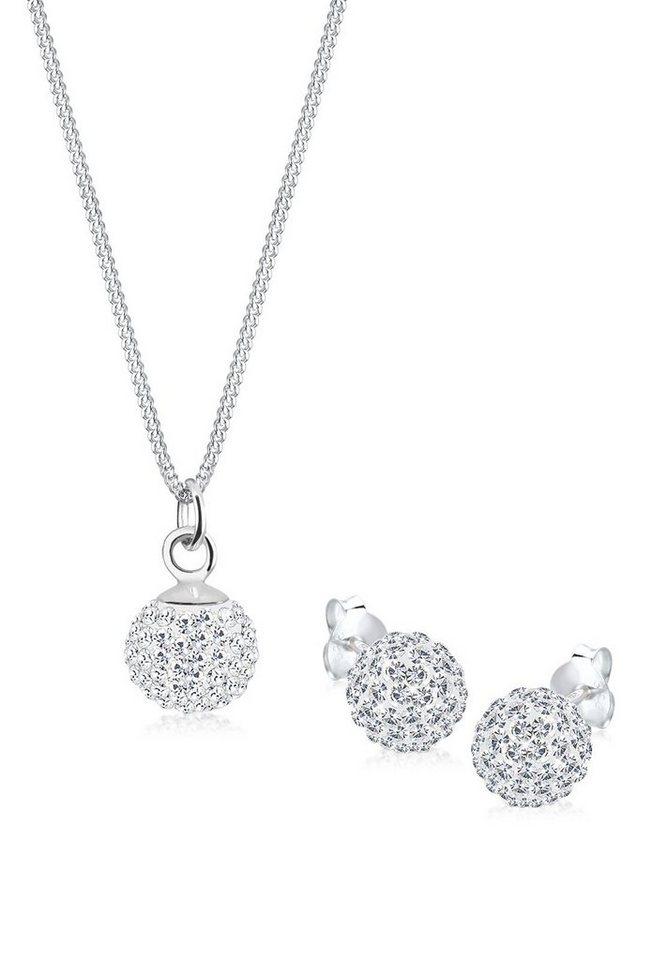Elli Set: Schmuckset »Swarovski® Kristalle 925 Silber« 2 tlg. in Weiß