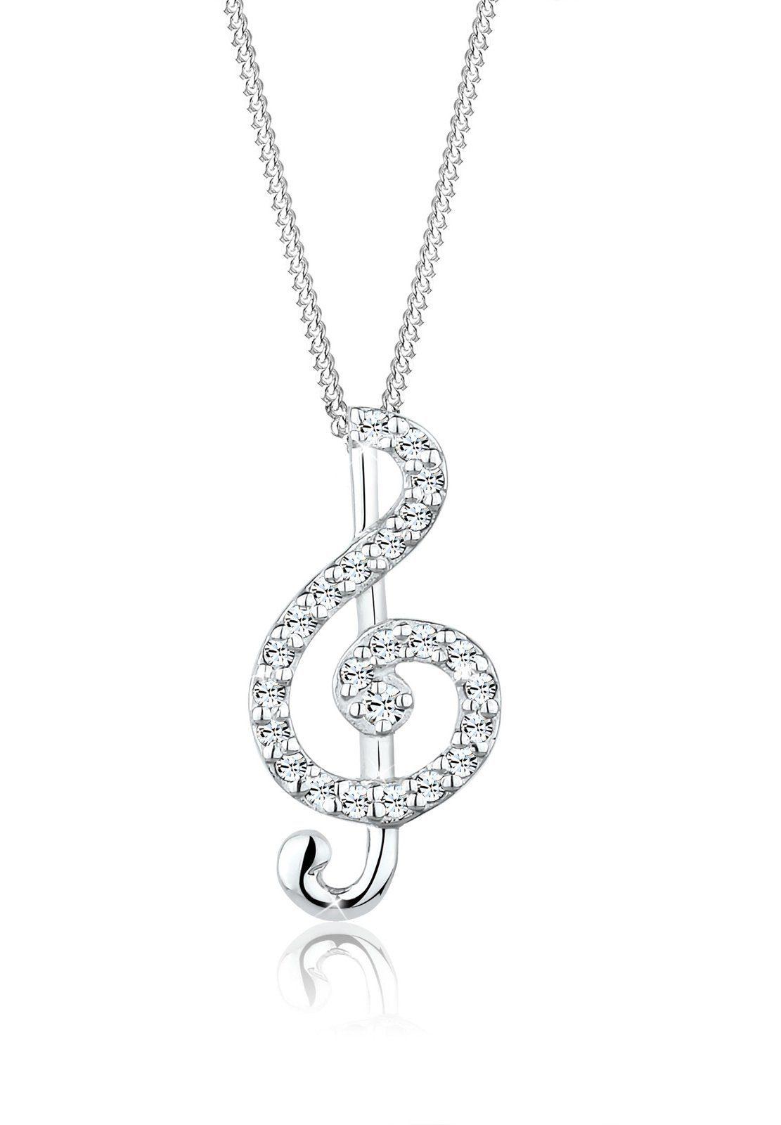 Elli Halskette »Note Swarovski® Kristalle 925 Sterling Silber«
