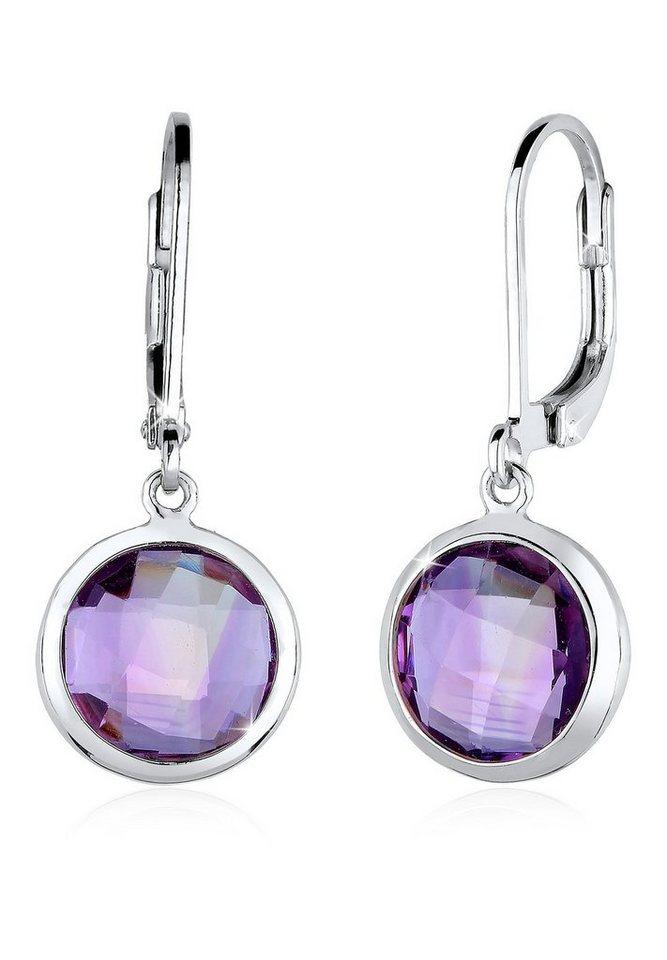 Elli Ohrringe »925 Sterling Silber Amethyst« in Violett