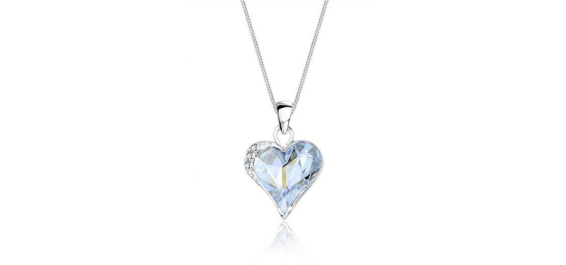 Elli Halskette »Herzchen Swarovski® Kristalle 925 Sterling Silber«