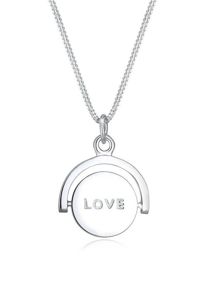 Elli Halskette »Drehscheibe Love Herz 925 Sterling Silber« in Silber